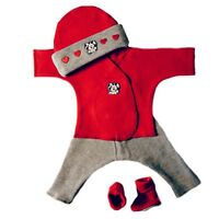Newborn And Preemie Valentine's Day Dalmatian & Hearts Baby Boy Outfit 4 Sizes
