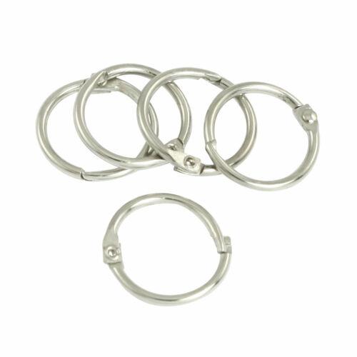 METAL forme ronde clip Trousseau organisateur porte-clés porte environ 1.78 cm dia 5 pcs 0.7 in