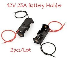 E117 2pcs Battery Holder Storage Case Slot for 12V 23A with both wire leads