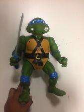 """TMNT Ninja Turtles Original 1989 GIANT LEONARDO LEO 13"""" inch Tall Action Figure"""