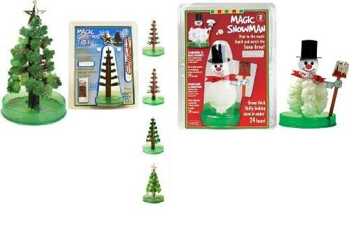 Magischer Schneemann Magischer Tannenbaum Weihnachtsbaum selbst zum wachsen