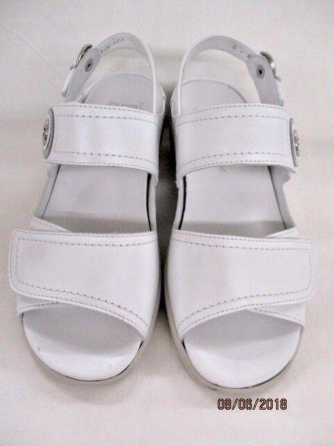 Ara Sandali da Donna Como-S 1237570-05 - perlacalf Bianco/Argento Larghezza K
