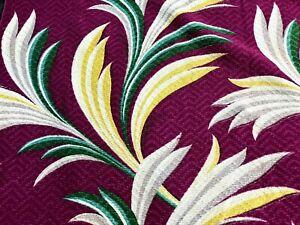 SALE-Miami-Beach-Art-Deco-Tropical-Barkcloth-Vintage-Fabric-Drape-Curtain-4Avail