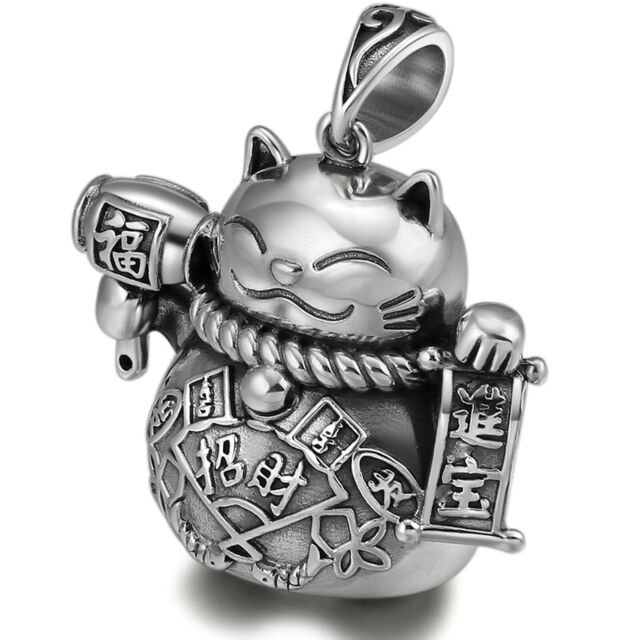 Pure S925 Sterling Silver Bead Men Women Good Luck 福 Fu Coin Pixiu 貔貅 Pendant