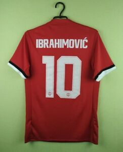 big sale 8cc51 e87bf Details about Zlatan Ibrahimovic jersey SMALL Manchester United shirt  2017/2018 home adidas