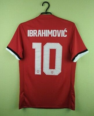 big sale 9a61b af3ae Details about Zlatan Ibrahimovic jersey SMALL Manchester United shirt  2017/2018 home adidas