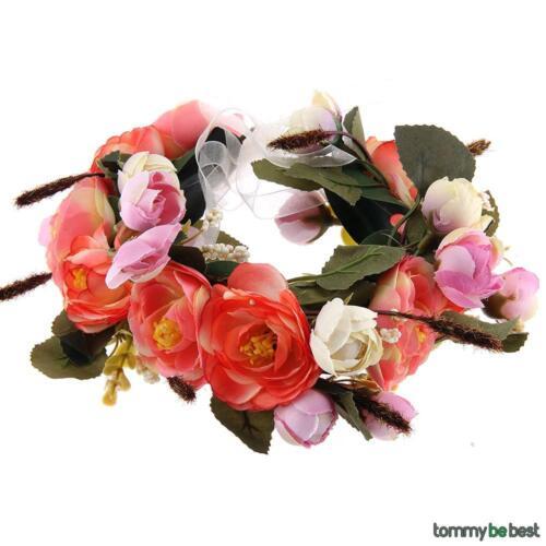 Blumen kranz Girlande Strand Party Krone Braut Hochzeit Stirnband Kopf Deko