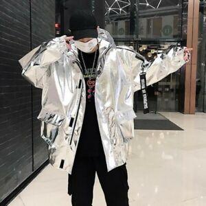 Mens-Casual-Jackets-Hooded-Loose-Zipper-Youth-Street-Hip-hop-Stylish-Coats-Sizes