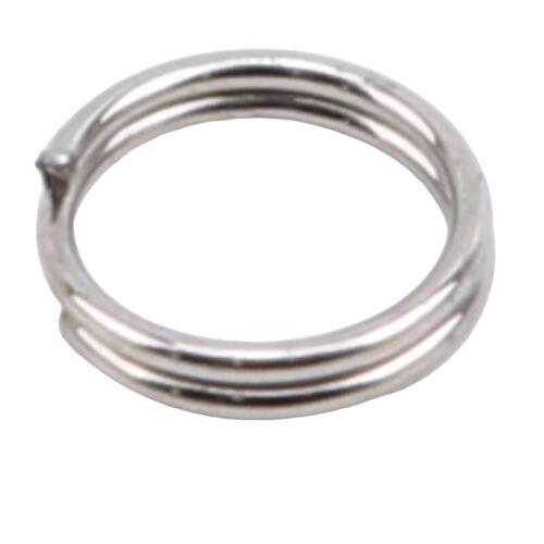 Double Split Rings Heavy Duty Stainless Steel Fishing Split Ring Kit Lure LA