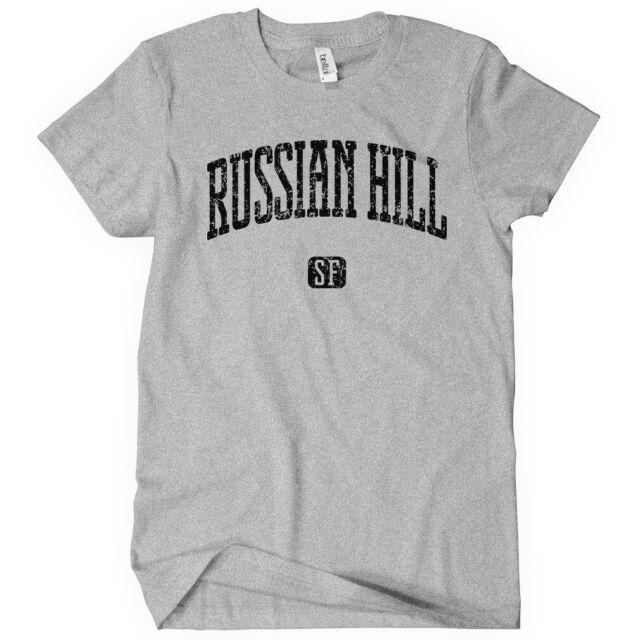 Russian Hill San Francisco T-shirt Men S-4X Gift 415 Seven Hills Lombard St.