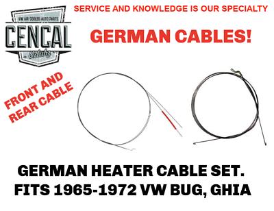 PREMIUM VW BUG  GHIA MAIN HEATER CABLE W//O FAN 1965-1974  111711717A
