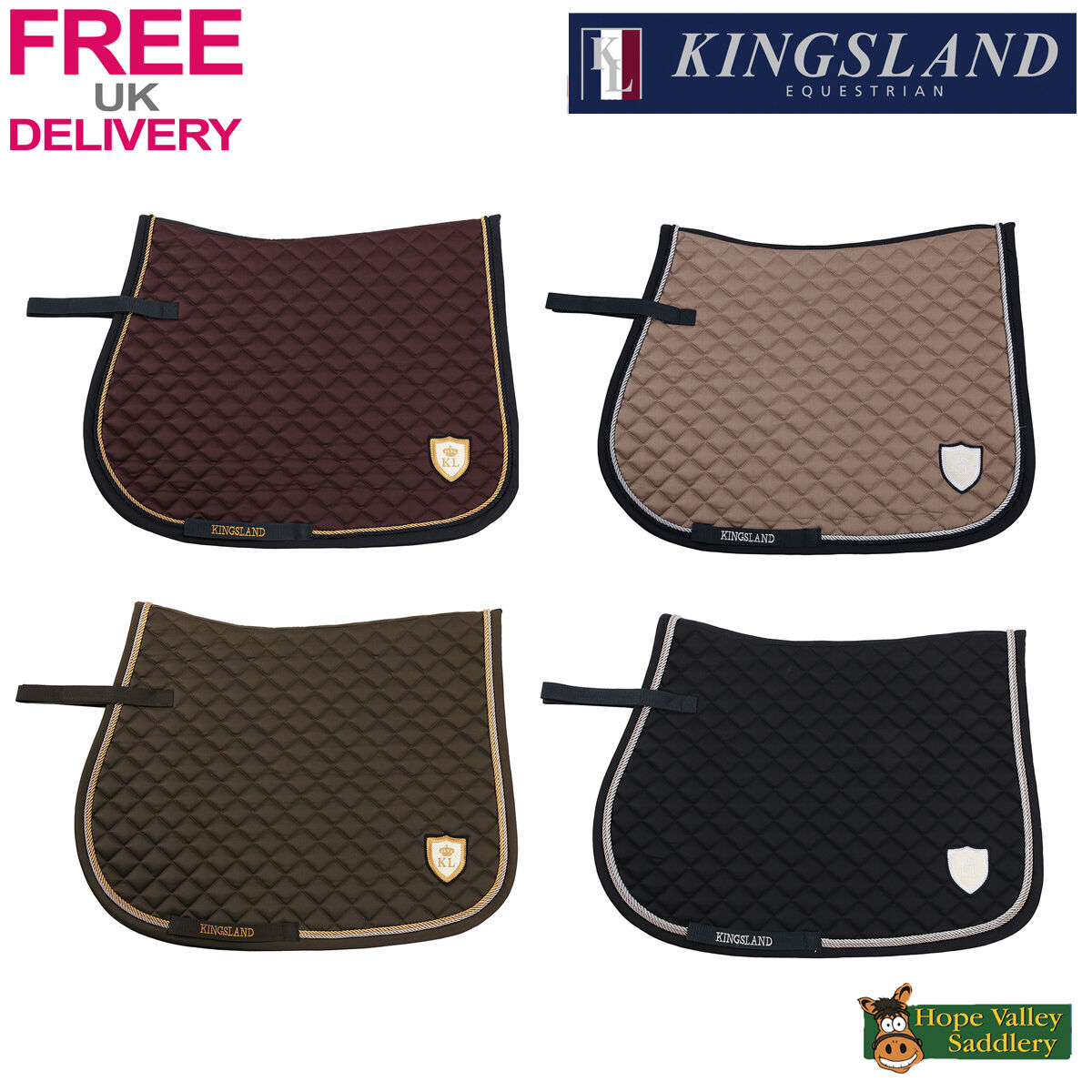 Kingsland  Topaz Saddlepad (153-HGS-296) BNWT FREE UK Shipping  shop now