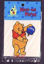LMH PATCH Badge  WINNIE THE POOH Bear HUNNY Pot Honey  WALT DISNEY World IRON ON