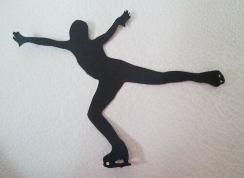 Iceskater patinage sur glace Silhouette X 12 die cuts Qualité Carte Noire