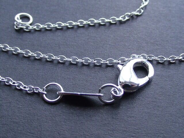 UK Jewellery 1 x 21 inch 1mm 925 Stamped Silver Trace Necklace Pendant Chain
