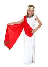 CHILDS GIRLS GREEK ROMAN GODDESS TOGA FANCY DRESS COSTUME FOR AGES 7-9 U37 888