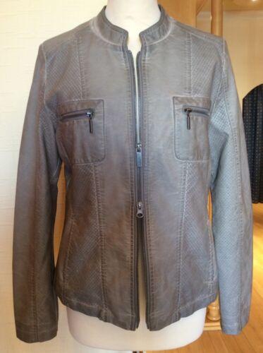 159 4055137350975 £ Faux Size Biker 14 Grey Rrp 64 £ Bnwt Leather Jacket Olsen B4FwOqwv