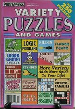 Penny Press Variety Puzzles and Games Feb 2017 Over 250 Puzzles FREE SHIPPING sb