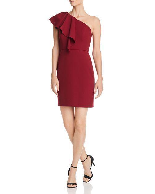 Aidan by Aidan Mattox One-Shoulder Scuba Crepe Dress MSRP  165 Size 8 A 69 N