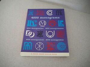 4000 Monograms Pepin Press Design Book Paperback 2000 Graphic Design