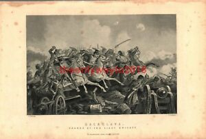 Balaclava-Charge-of-the-Light-Brigade-Book-Illustration-Print-c1890