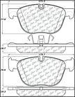 Disc Brake Pad Set-sDrive35i Front Centric 102.12940