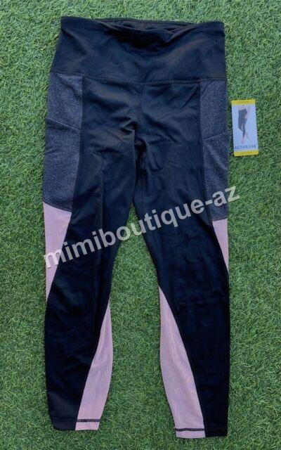 Nwt Womens Active Life Green Charcoal Gray Black Athletic Pants S M L XL  2XL