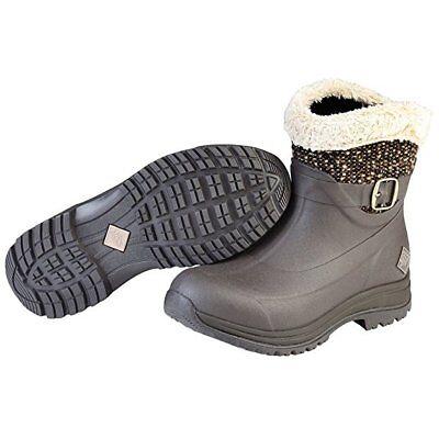 Muck Women/'s Apres AP8S-900 Ankle Supreme Brown Snow Winter Boots WARM Slip on