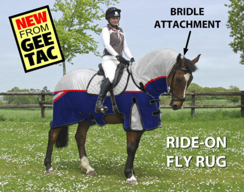 """Gee TAC Cheval Tapis Fly//équitation masque Sweet Itch Combo 5.9/"""""""