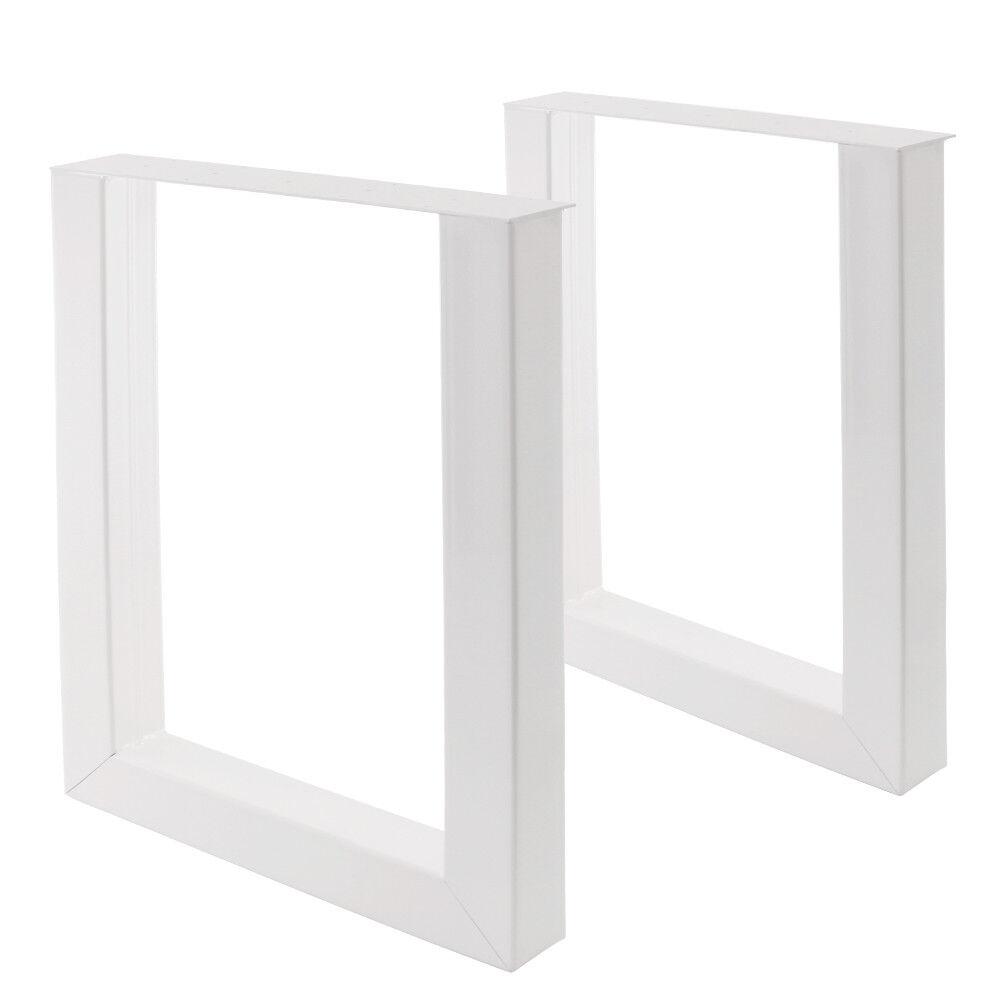 2U Tischbeine im U Design von Bentatec Home Esstisch Tisch Möbel Weiß weiß NEU
