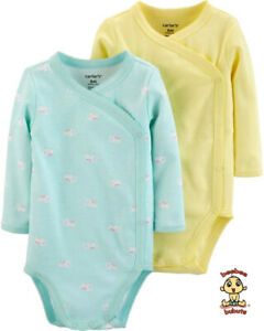 Carter-039-s-Bodysuits-2-Pack-Set-Newborn-Size-Authentic-and-Brand-New