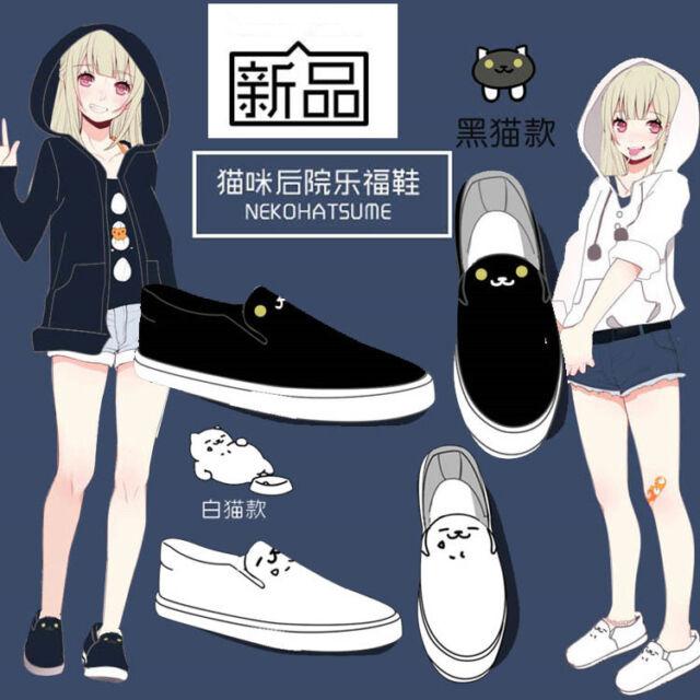 Japanese Neko Atsume ねこあつめ Cute Cat Casual Short Sleeve T-shirt Gift Sa