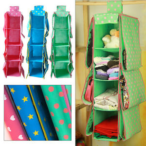 10-Pockets-Section-Wardrobe-Hanging-Clothes-Holder-Rack-Organizer-Shelf-Storage