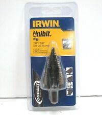 7//8-1-1//8 IRWIN UNIBIT 10239cb Cobalt Step Drill Bit 2 Sizes