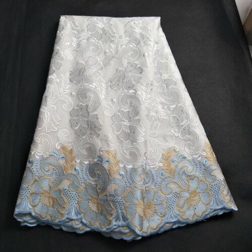 Swiss Voile Lace Fabric African Big Lace Fabric embroidery Cotton Wedding Dress