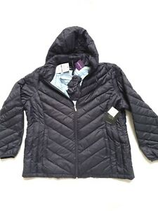 0e4a56a13 Details about NEW LONDON FOG NAVY DETACHABLE HOOD PUFFER QUILTED PACKABLE  DOWN JACKET COAT