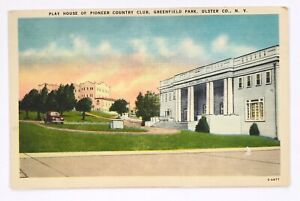 Postcard-Ulster-Co-NY-Greenfield-Park-Play-House-Pioneer-Country-Club-New-York