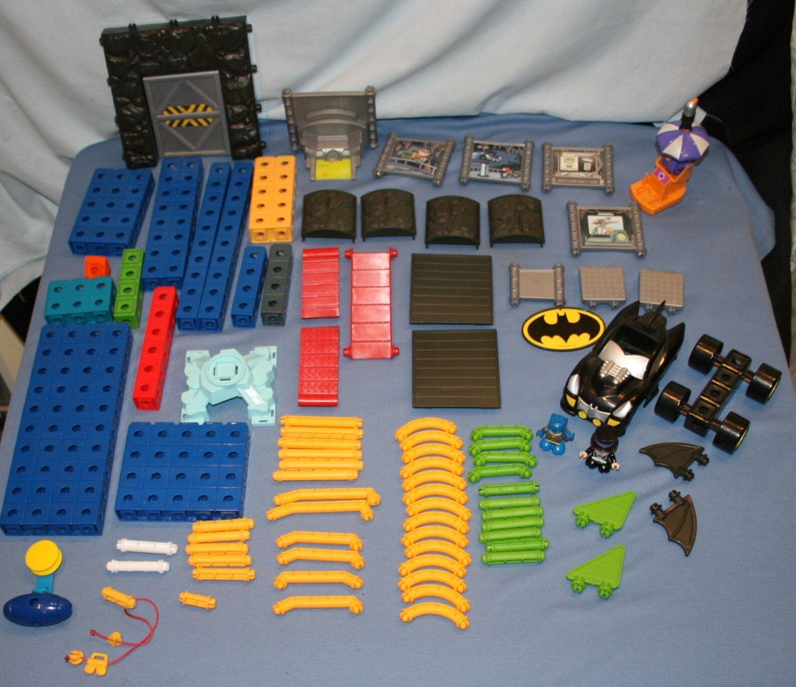 Fisher Price Trio Batman Pieces Bat Cave 150 Pcs EXTRAS Toys Preschool Snap