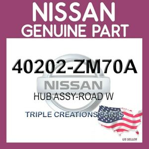 Nissan 40202-ZR00B Hub Road Wheel