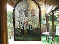 """Glasfenster Mosaik """"Pfingsten""""- UNIKAT- Bärbel Robling - Zertifikat und Rechnung"""