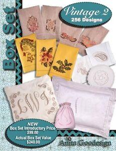 Anita-Goodesign-Vintage-2-Box-Set-Embroidery-Machine-Design-CD-NEW-BX021