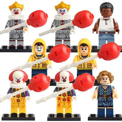 IT PENNYWISE CLOWN GEORGIE RICHIE BEVERLY LEGO MOC CUSTOM MINIFIGURE BRICKS