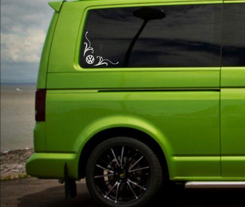 vw Volkswagen camper t4 t5 side glass corner window vinyl  sticker decals x2