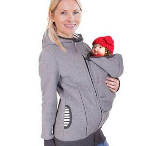 Image is loading Womens-Maternity-Coat-Kangaroo-Hooded -Jacket-Sweatshirt-for- 255c4ee74
