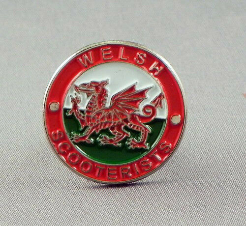 WELSH SCOOTERISTS MODS PIN BADGE NEW