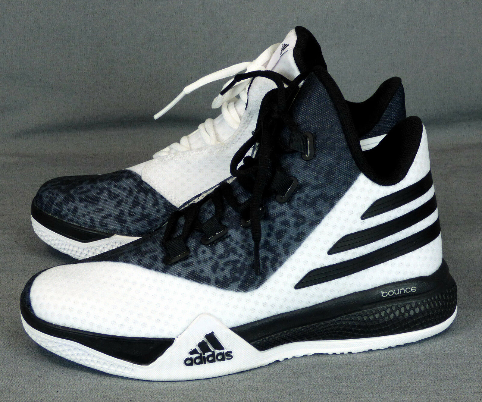 285 NWOB Adidas Bounce Ortholite men shoes athletic sneakers Ortholite Bounce black white NEW 5.5 56b7b4