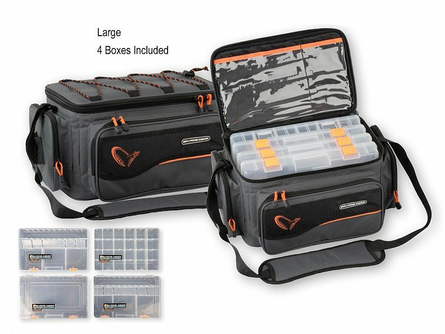 SAVAGE Gear System Box BorsaS, M, L, XLBorsa praticoscatole incl.