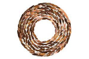 Wanddeko metall 39 bl tter kreis braun abstrakt 39 wandskulptur wandobjekt ebay - Wanddeko metall abstrakt ...