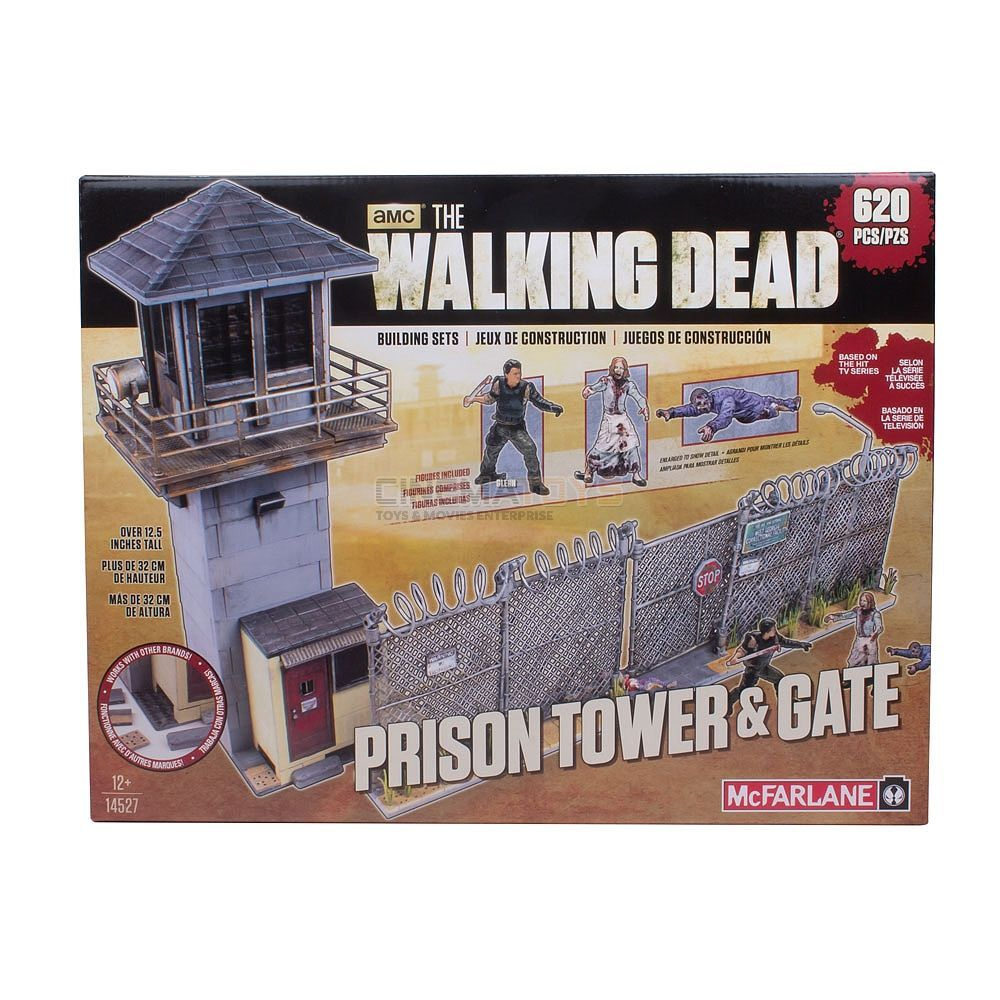 THE WALKING DEAD Prison Tower & Gate Mini-Figure Building Set 620 pcs McFarlane
