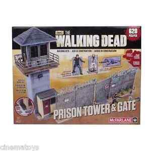Ensemble de bâtiments à mini figurines The Walking Dead Prison Tower et Gate 620 Pcs Mcfarlane